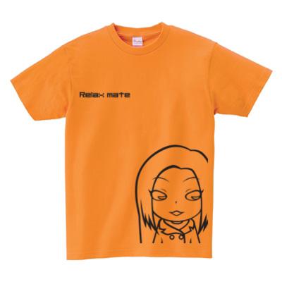 キャラクターTシャツ オレンジ