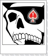 髑髏デザインTシャツ「スペードドクロ」黒赤 通販
