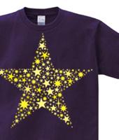 星々デザインTシャツ「star」イエロー