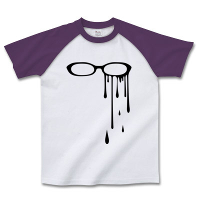 ラグランTシャツ 眼鏡イラスト